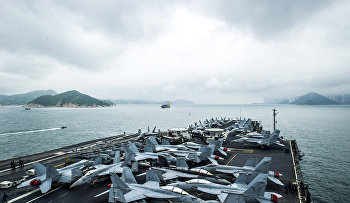 USS George Washington prepares to anchor