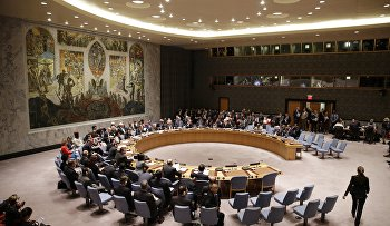 The U.N. Security Council meets at United Nations headquarters, Wednesday, Sept. 30, 2015.