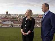 U.S. Secretary of State Hillary Rodham Clinton meets with Russian Foreign Minister Sergey Lavrov, Friday, June 29, 2012, in St. Petersburg, Russia